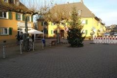 Kurz vor dem aufbau des Weihnachtsmarkts