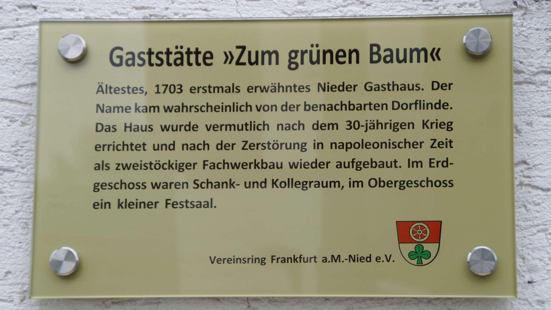 "Gaststätte ""Zum grünen Baum"""