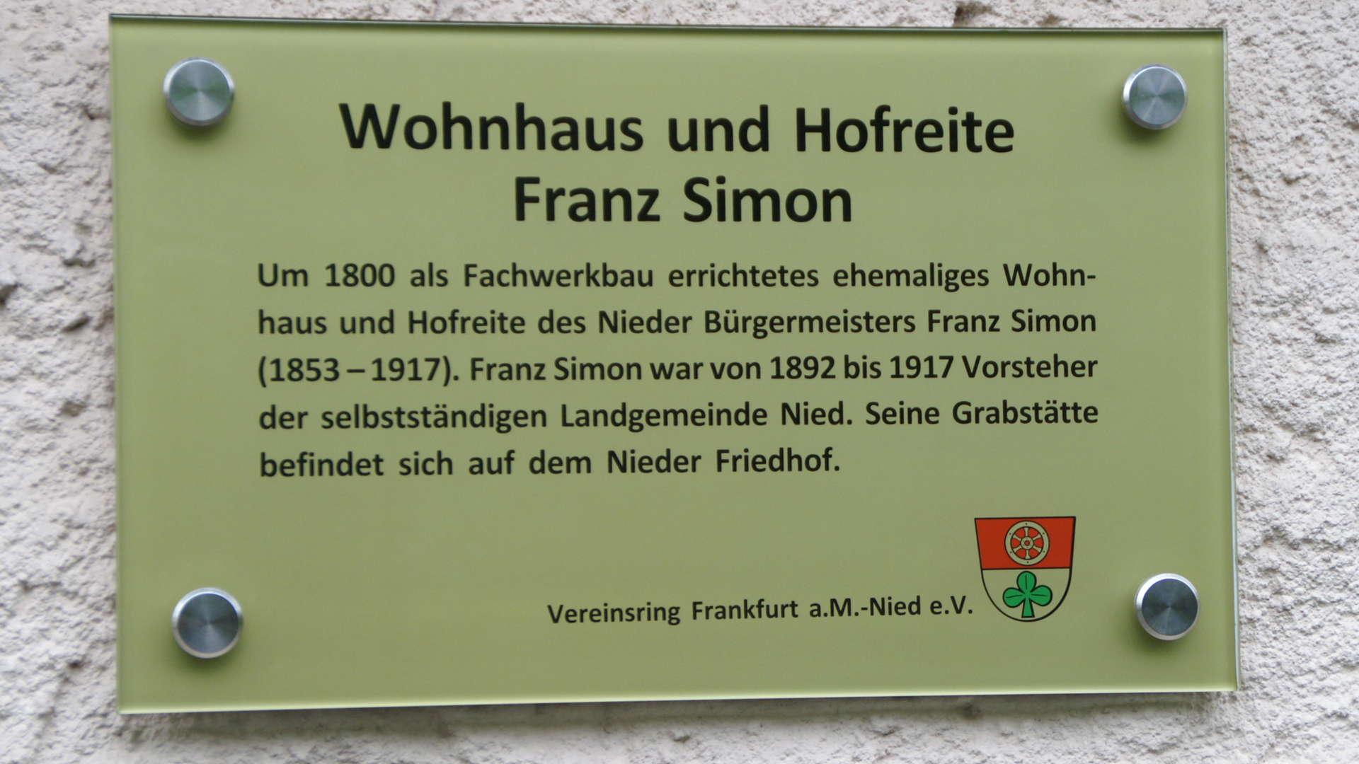 Wohnhaus und Hofreite Franz Simon