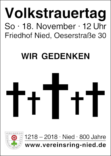 18.11.2018: Nieder Gedenken zum Volkstrauertag