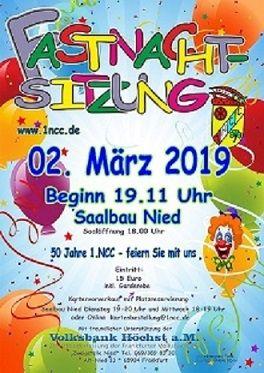 02.03.2019: 1.NCC, Fastnachtssitzung 2019