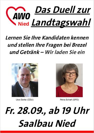 28.09.2018: AWO, Das Duell zur Landtagswahl