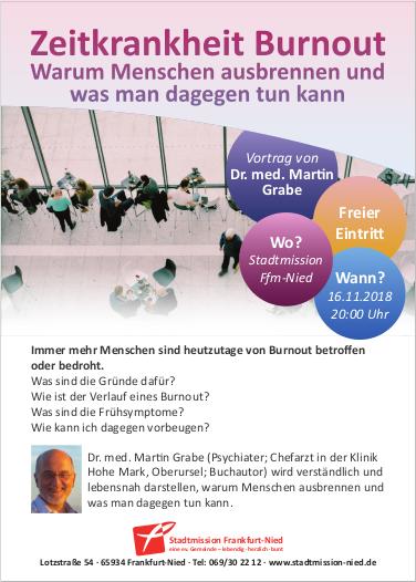 16.11.2018: Stadtmission, Zeitkrankheit Burnout