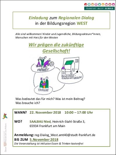 22.11.2018: Stadtschulamt, Regionaler Dialog in der Bildungsregion West