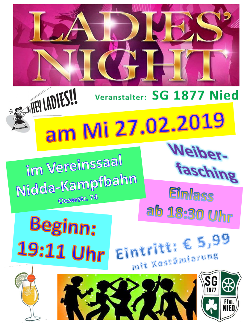 27.02.2019: SG Nied, Ladies-Night